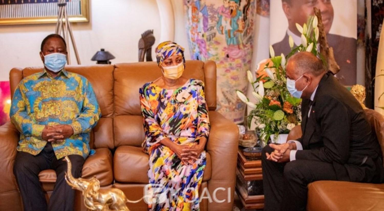 Côte d'Ivoire : Patrick Achi à Daoukro pour présenter ses condoléances au couple Bédié pour le rappel à Dieu de Konan Henri