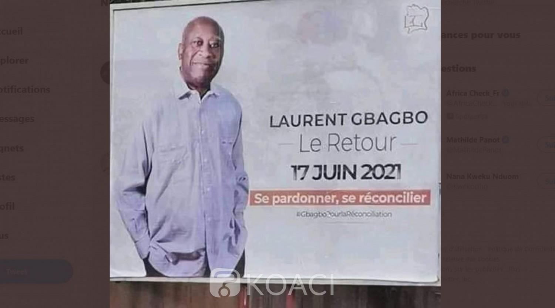 Côte d'Ivoire : Panneaux de retour de Gbagbo en ville et billet d'avion pour le 17 juin