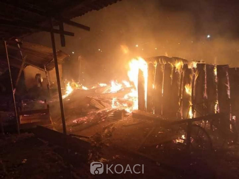 Côte d'Ivoire : Daoukro, le grand marché part en fumée, plusieurs magasins et étalages calcinés
