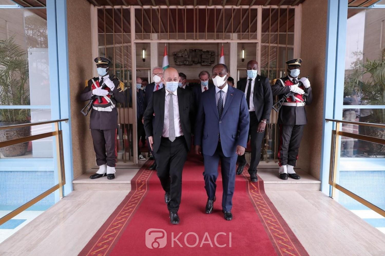 Côte d'Ivoire-France : Depuis Jacqueville Jean-Yves Le Drian invite les pays de la région à s'approprier l'AILCT et annonce la poursuite de son internationalisation