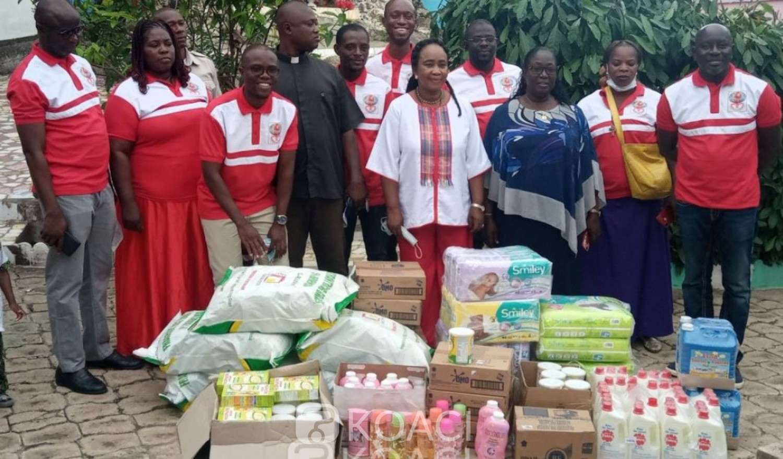 Côte d'Ivoire : Depuis Diabo, des poupons de différentes pouponnières de Bouaké, soulagées en vivres et non vivres