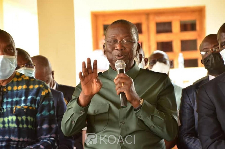 Côte d'Ivoire :    Sakassou, Jeannot-Ahoussou-Kouadio accueilli par 110 chefs traditionnels, 23 chefs de tribus et 30 chefs de cantons à Walèbo