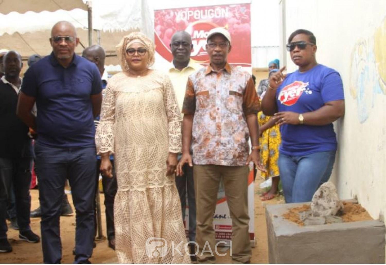 Côte d'Ivoire : Pose de la première pierre des travaux de  la réhabilitation du Groupe Scolaire cinquantenaire de Yopougon, Sicogi 1