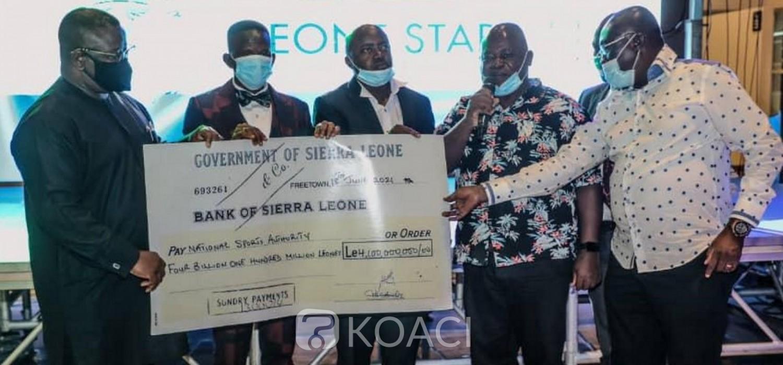 Sierra Leone :  CAN 2022, un chèque de Bio aux Leone Stars pour leur qualification