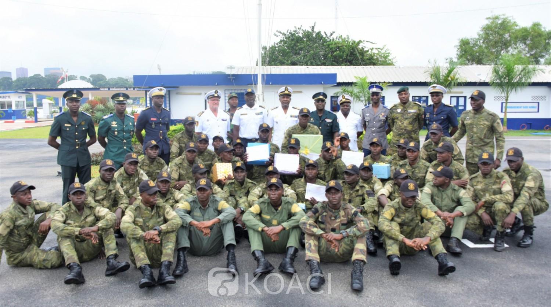 Côte d'Ivoire : Marine nationale, 82 fusiliers marins font leur sortie après 4 mois de formation