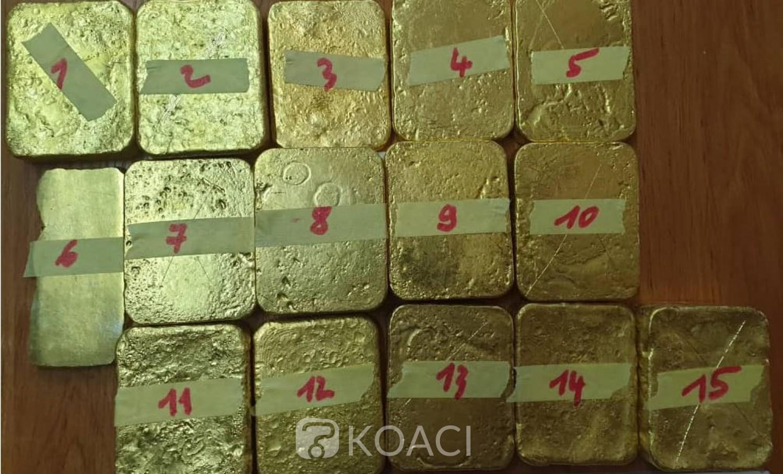 Côte d'Ivoire :   Fraude, 33,347 kilo d'or brut d'une valeur de plus d'un milliard de FCFA saisis par les Douanes Ivoiriennes
