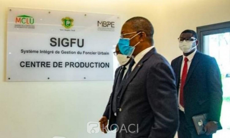 Côte d'Ivoire : Réduction des délais traitement de l'ACD et du titre de propriété, Bruno Koné visite le nouveau centre de production du Système Intégré de Gestion du Foncier Urbain