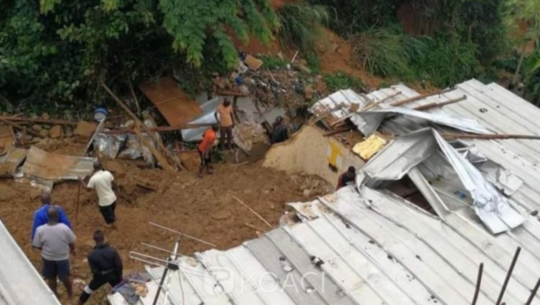 Côte d'Ivoire : 02 morts à la suite d'un glissement de terrain dû à la forte pluie tombée jeudi nuit