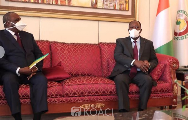 Côte d'Ivoire : Le PDG d'Afreximbank fait le point du financement  de la campagne de vaccination contre la COVID-19 avec Ouattara