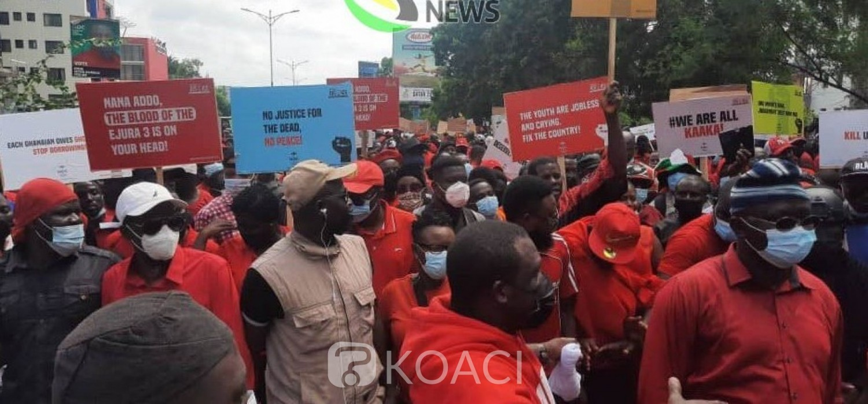 Ghana : Descente du NDC dans les rues à Accra pour la justice
