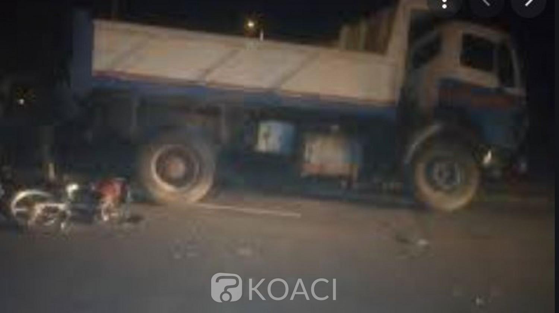 Côte d'Ivoire : Un enseignant  et son compagnon à moto trouvent la mort en se jetant sous un camion