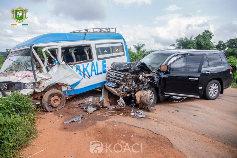 Côte d'Ivoire : Gagnoa, le ministre Alcide Djédjé victime d'un accident, son épouse grièvement blessée
