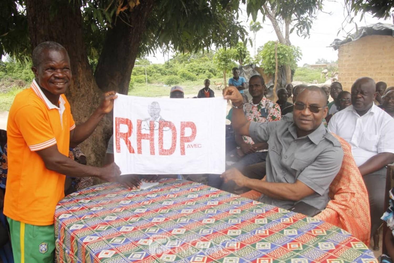 Côte d'Ivoire : Un cadre du RHDP ratisse plusieurs localités du centre pour l'implantation de son parti