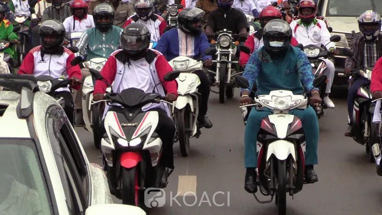 Burkina Faso : Des ministres paradent à motos pour sensibiliser sur la sécurité routière