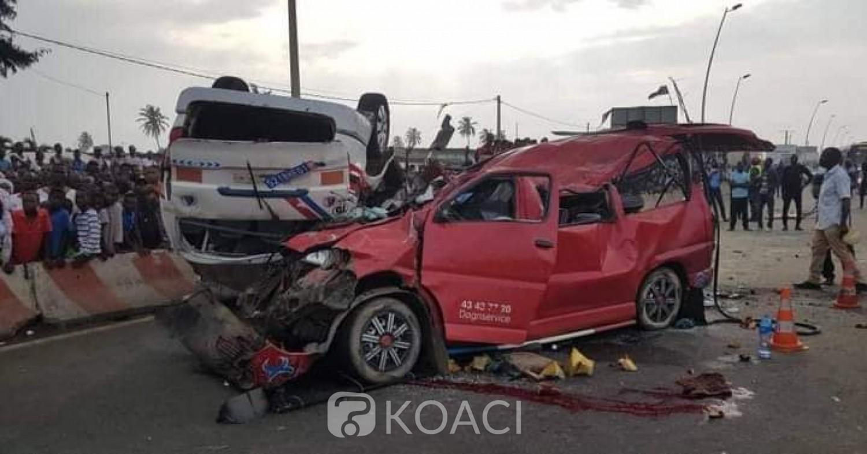 Côte d'Ivoire : Port-Bouët, une grave collision entre deux minicars fait 16 victimes dont 03 morts