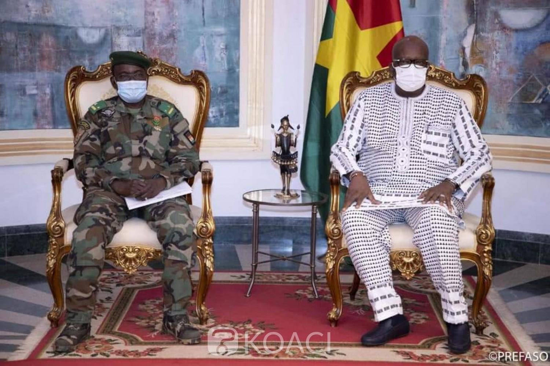 Burkina Faso : En fin de mission, le commandant de la Force conjointe du G5 Sahel chez le président Kaboré