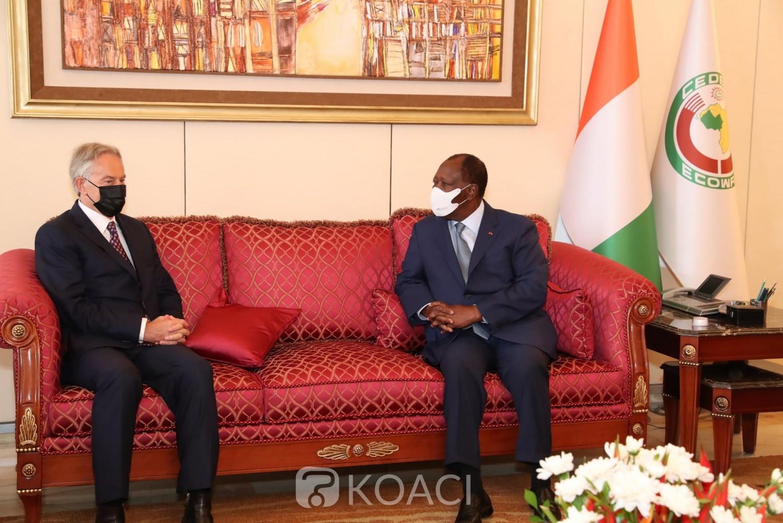 Côte d'Ivoire : L'ancien Premier Ministre Britannique reçu par Ouattara
