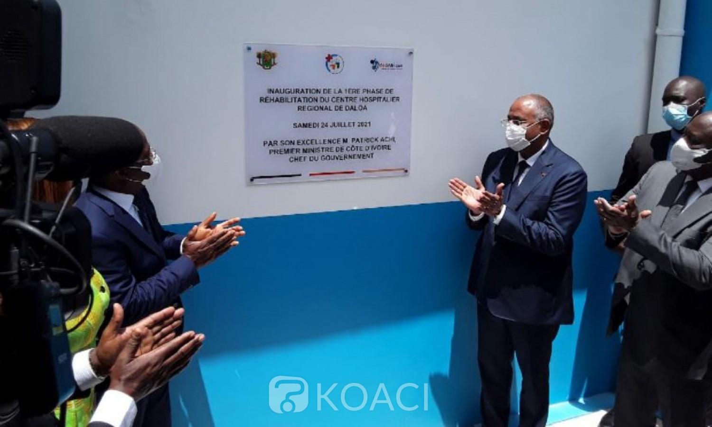 Côte d'Ivoire : Patrick Achi inaugure la phase 1 des travaux de réhabilitation du CHR de Daloa, lance les travaux de la 2ème tranche pour un coût global de 18 milliards de FCFA