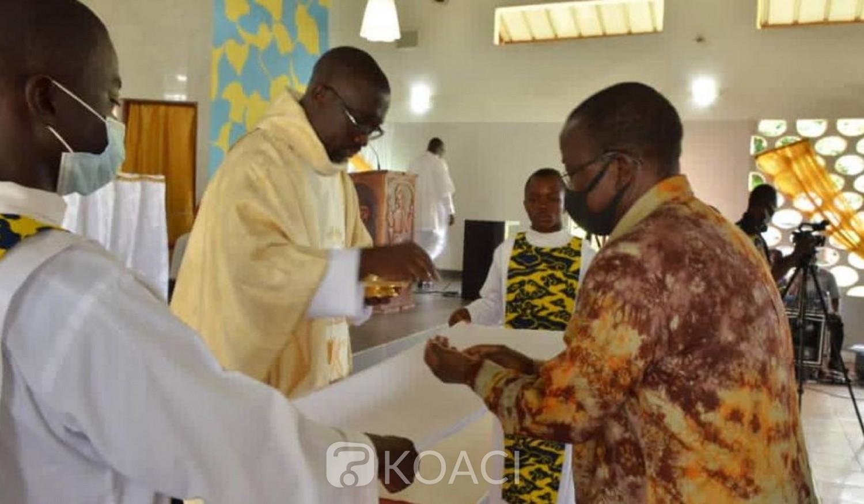 Côte d'Ivoire :   Raviart, le Père Jean Claude Atsain fête ses 15 ans de sacerdoce et rend hommage à Ahoussou pour sa sollicitude envers la Paroisse Saint-Pierre