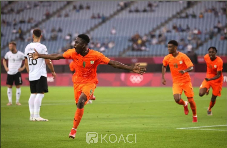 Côte d'Ivoire : JO Tokyo 2020, les éléphants accrochent l'Allemagne (1-1)  et filent  en quarts de finale