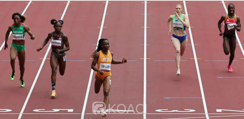 Côte d'Ivoire : JO Tokyo 2020, Ta Lou  en trombe égale le  record d'Afrique du 100 m et se qualifie pour les demi-finales