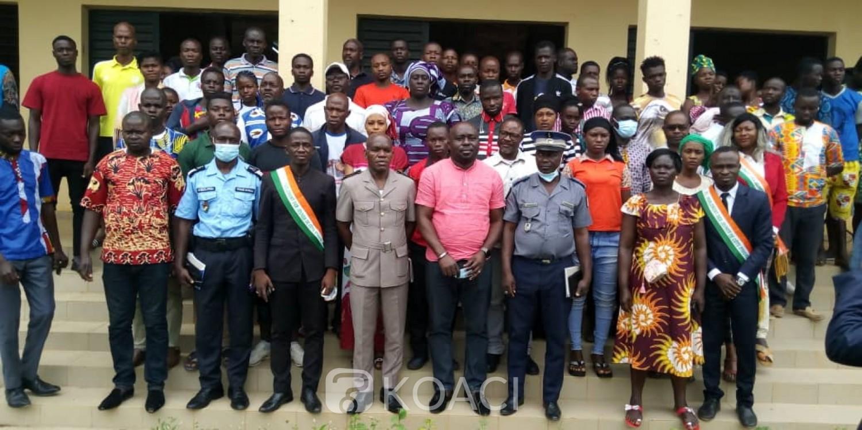 Côte d'Ivoire : Pour la paix et la cohésion dans le pays, le président du PJCI engage des centaines de jeunes depuis Béoumi