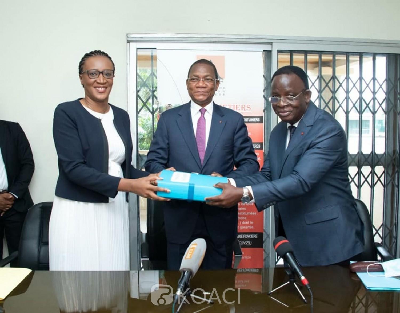 Côte d'Ivoire : L'ex-directeur de l'AGEF écroué à la Maca, Bruno Koné préside la passation de charges avec la nouvelle directrice, Anipko Melei