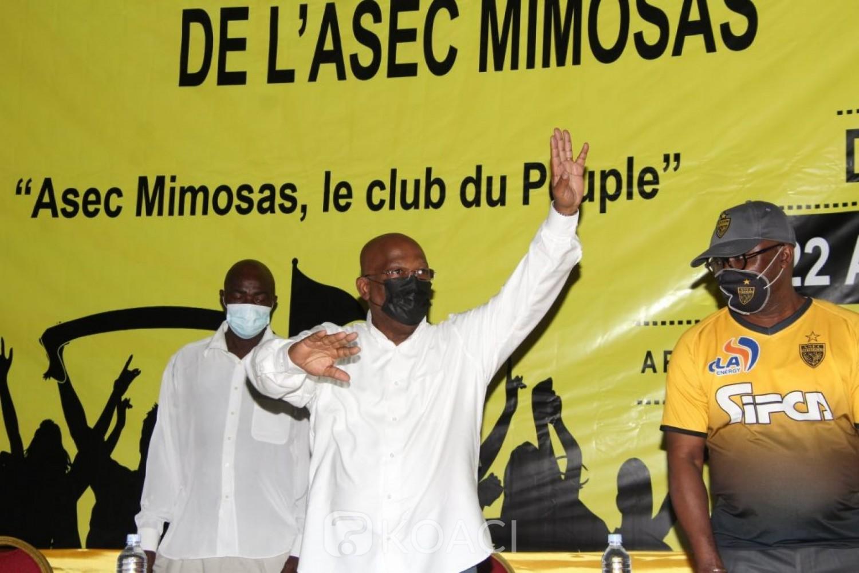 Côte d'Ivoire : Asec Mimosas, Me Ouégnin reconduit pour un nouveau mandat de 5 ans à la tête du club annonce la construction d'un nouveau centre d'entrainement