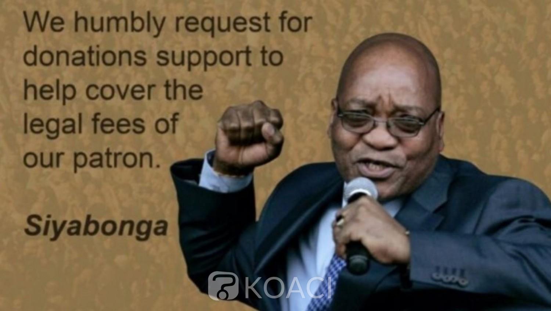 Afrique du Sud : Appel aux dons pour couvrir les frais de justice de Zuma