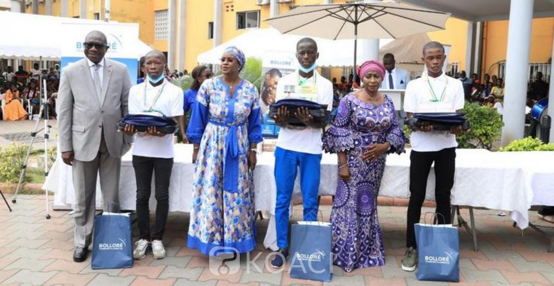 Côte d'Ivoire : B-Excellence, après San Pedro, Bolloré récompense les meilleurs bacheliers de Treichville