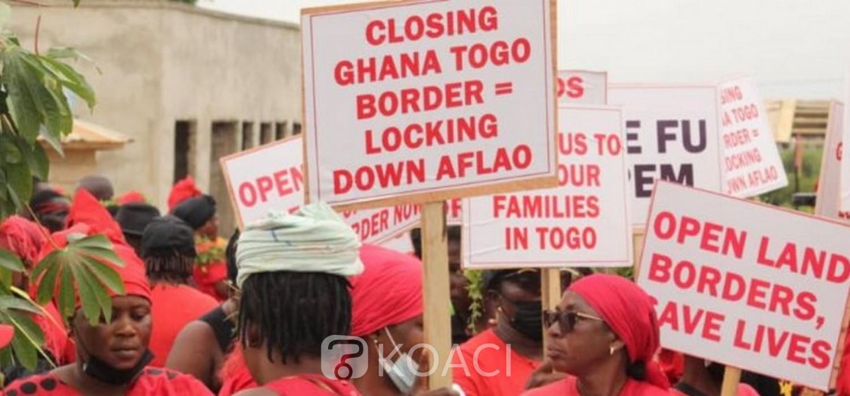 Ghana :  Manifestations à Aflao pour la réouverture de la frontière Ghana-Togo