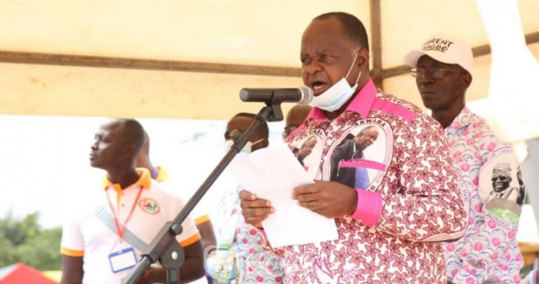 Côte d'Ivoire : À Mama, au nom des Wè, Hubert Oulaye rend hommage à « l'épouse Nady Bamba » pour avoir pris soin de Gbagbo pendant les 10 ans de détention