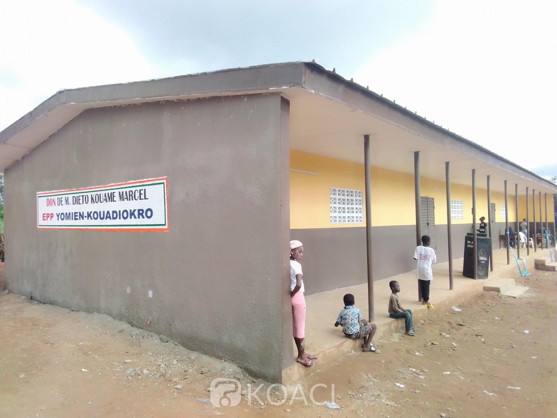 Côte d'Ivoire : Diabo, à l'entame de la rentrée scolaire, un bâtiment de trois classes offert aux écoliers par une ONG