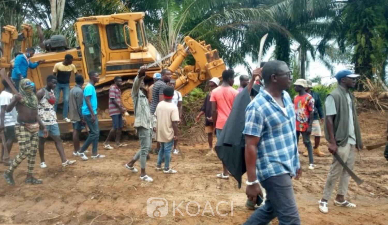 Côte d'Ivoire : Lotissement Songon Agban-Bité, en colère, les propriétaires terriens Atchan font arrêter des travaux et se disent prêt à défendre leurs terres au prix de leur sang