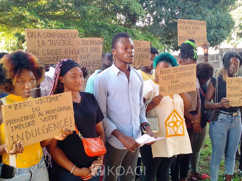 Côte d'Ivoire : Depuis Bouaké, des jeunes du Mouvement Zéro victime, implorent le président Ouattara pour la remise en liberté de Al Moustapha