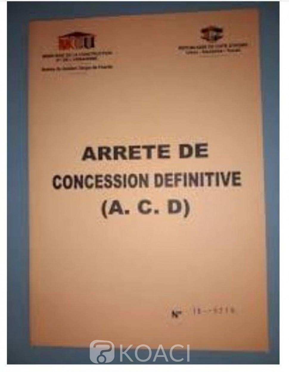 Côte d'Ivoire : Nomenclature des pièces à fournir pour une demande d'ACD à partir d'une lettre d'attribution et des frais de dépôt