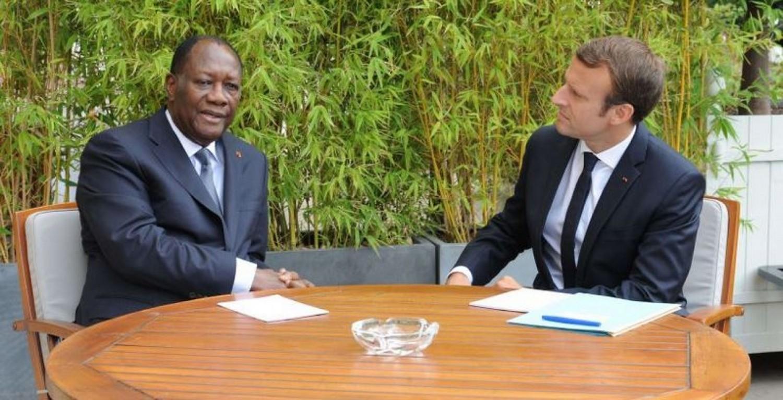 Côte d'Ivoire-France : Alassane Ouattara invité par Emmanuel Macron à diner à l'Elysée