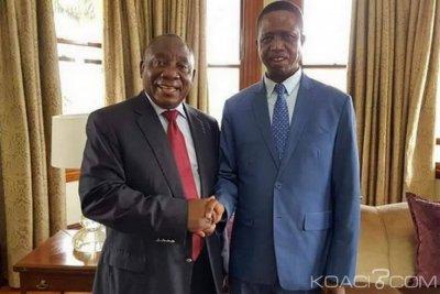 Zambie-Afrique du Sud : Lungu chez Ramaphosa au chevet de la RDC