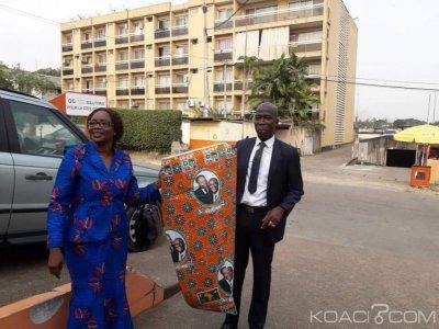 Côte d'Ivoire : Congrès du parti unifié, Dao Abroulaye, départemental Adjoint du  RDR fait don de pagnes à 500 femmes de Cocody pour relever le défi de la mobilisation