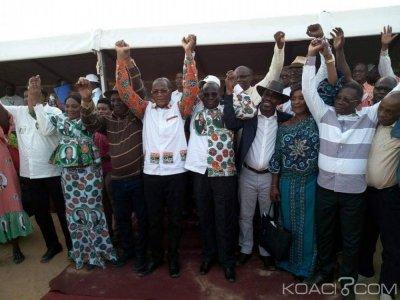 Côte d'Ivoire : RHDP, Bruno Koné depuis Dabou «les partis politiques conserveront leur logo pendant la phase transitoire»