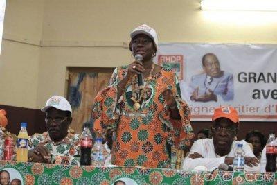 Côte d'Ivoire : Kandia en pré-congrès à Bassam aux militants du Sud-Comoé, «Ne mettez pas la honte sur moi»