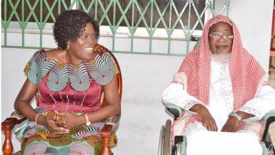 Côte d'Ivoire : Simone Gbagbo en visite de courtoisie chez l'Imam El Hadj KONÉ Koudouss à Yopougon