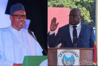 Nigeria-RDC : Buhari félicite le nouveau Président Tshisekedi