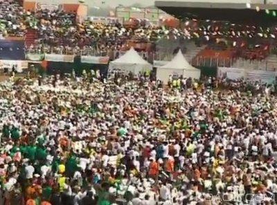 Côte d'Ivoire : Congrès ordinaire du RHDP, à 10H, le stade Houphouët Boigny déjà plein