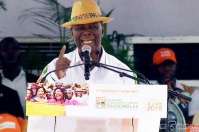 Côte d'Ivoire : Alassane Ouattara souhaite que le RHDP soit au pouvoir jusqu'en 2050