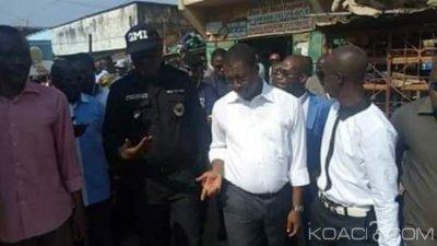 Côte d'Ivoire : Pour mettre fin au désordre à Man, le maire investi les rues de la ville