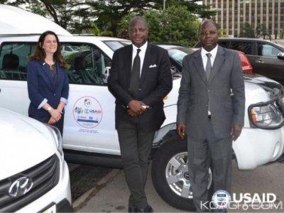Côte d'Ivoire : Les Etats-Unis  renforcent le District sanitaire du pays avec un don de lot  de  matériel roulant