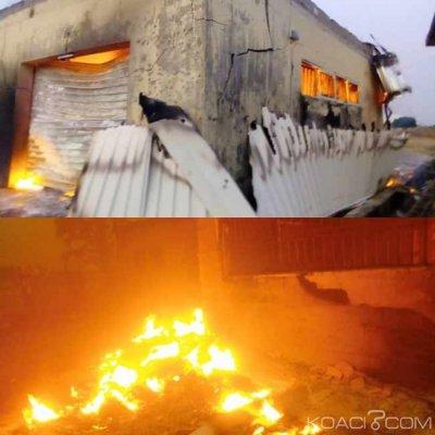 Nigeria  : Etat du Plateau ,un bureau de la commission électorale ravagé par le feu