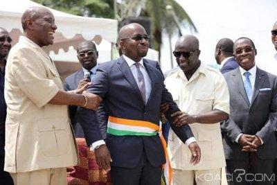 Côte d'Ivoire: À Bassam Moulot investi, la république rassemblée