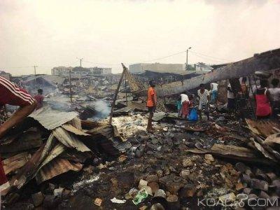 Côte d'Ivoire : Le marché Gouro de Yopougon ravagé par un incendie, des personnes dépouillées par des badauds